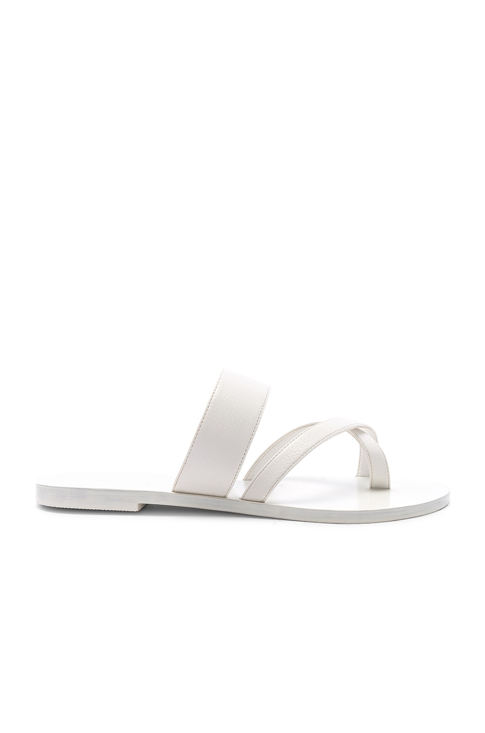 RAYE Crescent Sandal in White