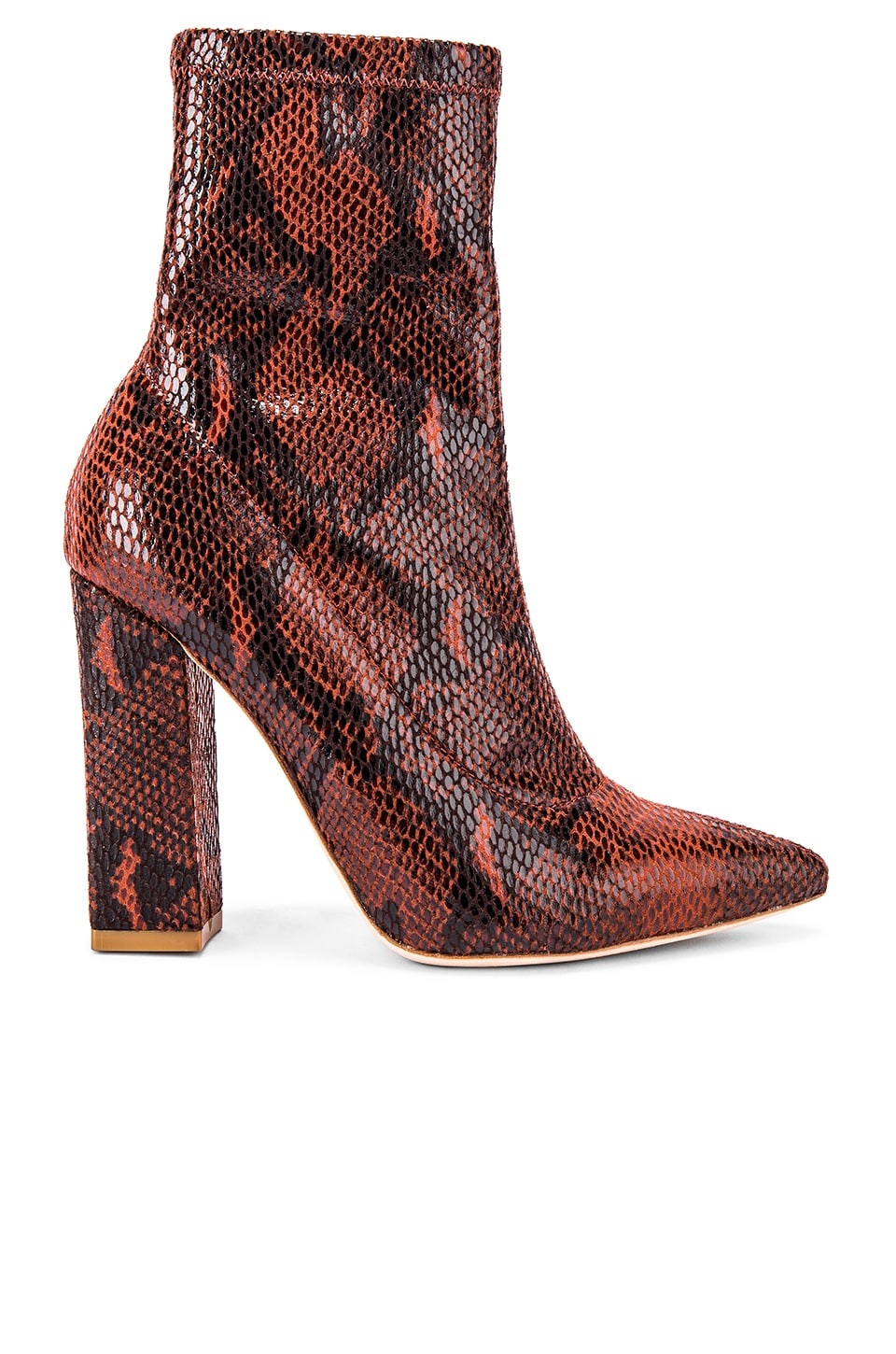 RAYE Fang Bootie in Brown Snake