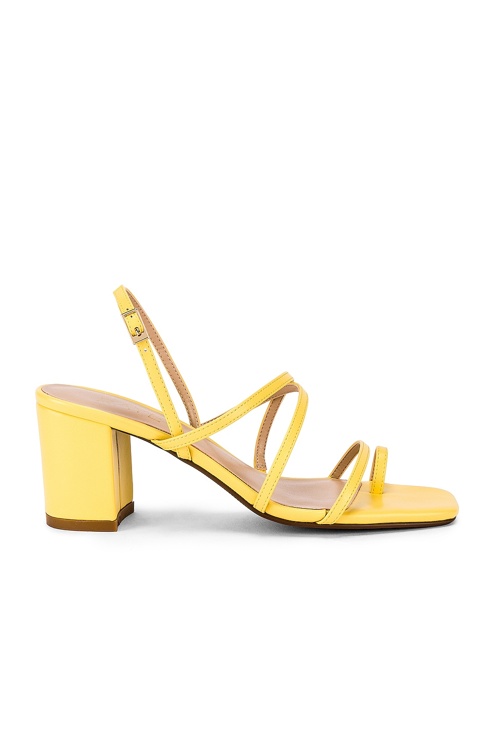RAYE Portland Heel in Pale Yellow