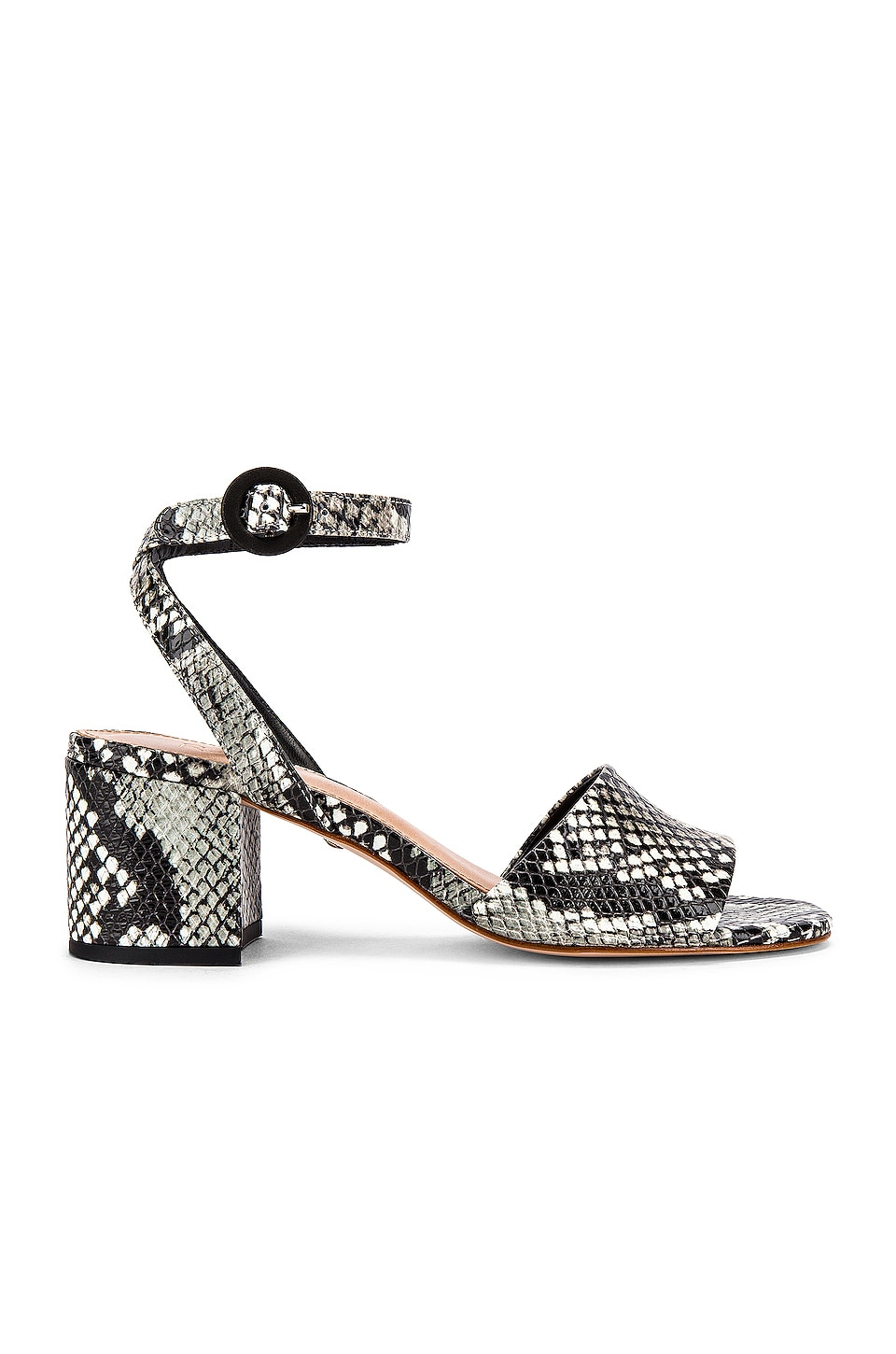 RAYE Nava Sandal in Black & White
