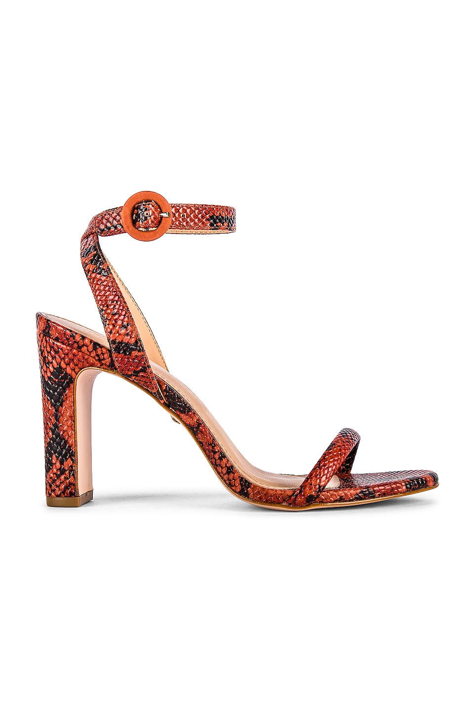 RAYE Glendora Heel in Red Snake
