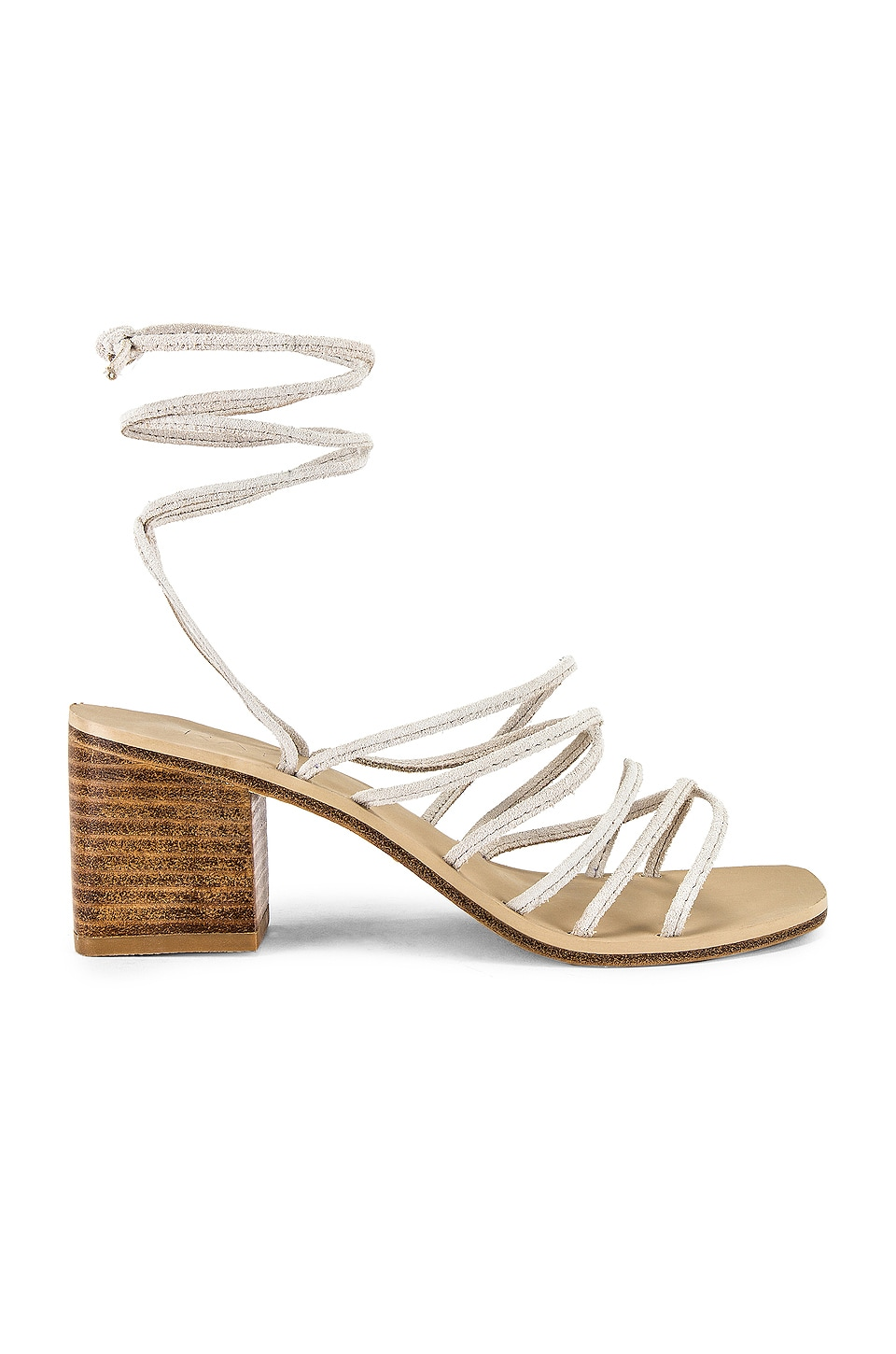 RAYE Cross Sandal in Nude