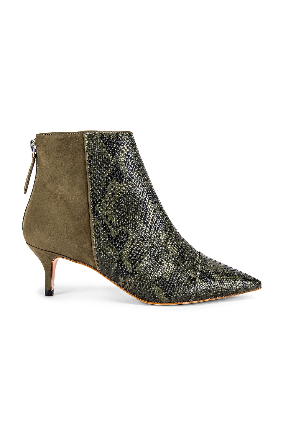 RAYE Rio Bootie in Green Snake
