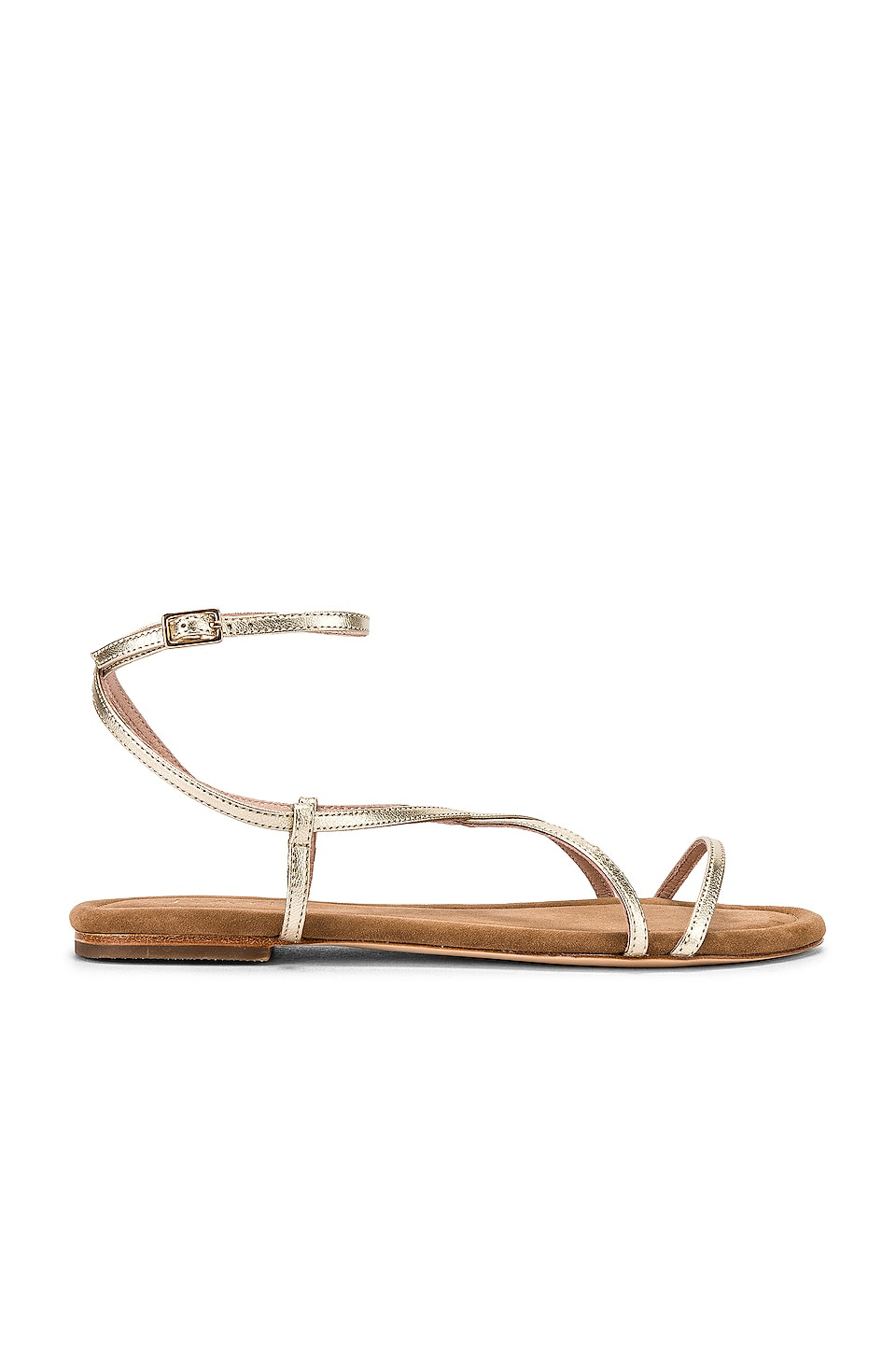 RAYE Clay Sandal in Pale Gold