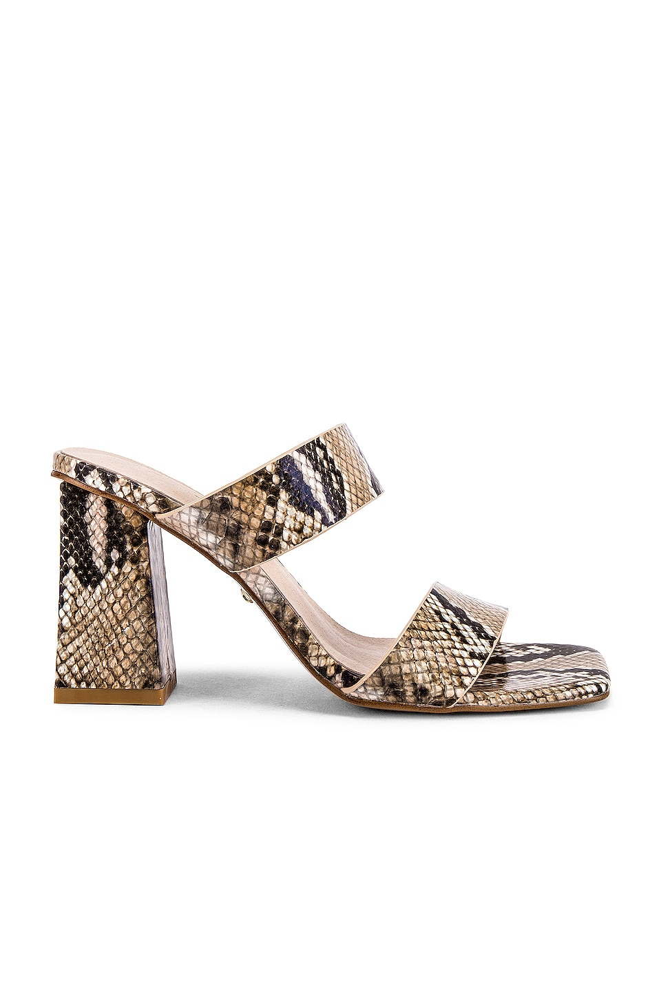 RAYE Pixie Heel in Natural Snake