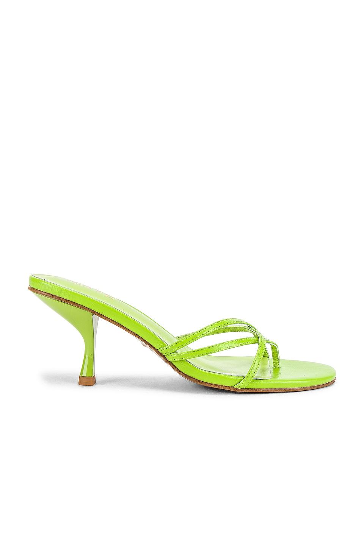 RAYE Toffee Sandal in Lime