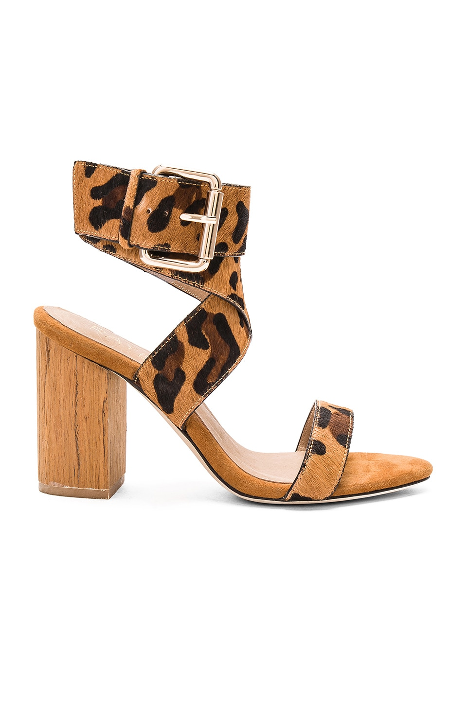 RAYE Lexie Cow Hair Heel in Tan Leopard