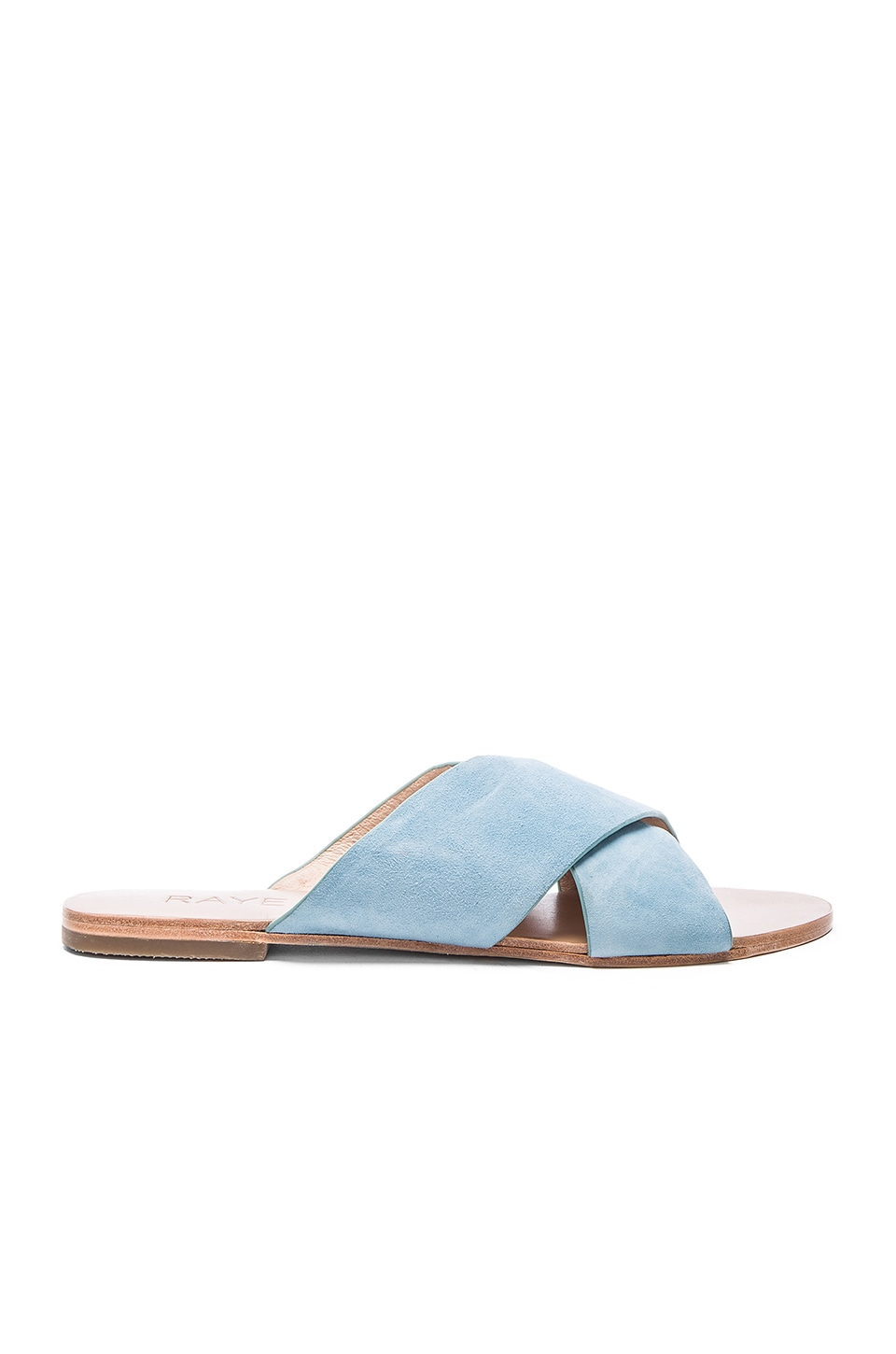 RAYE Sullivan Slide in Washed Denim