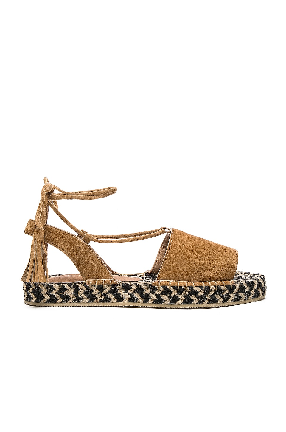 RAYE Devon Sandal in Tan & Multi Weave