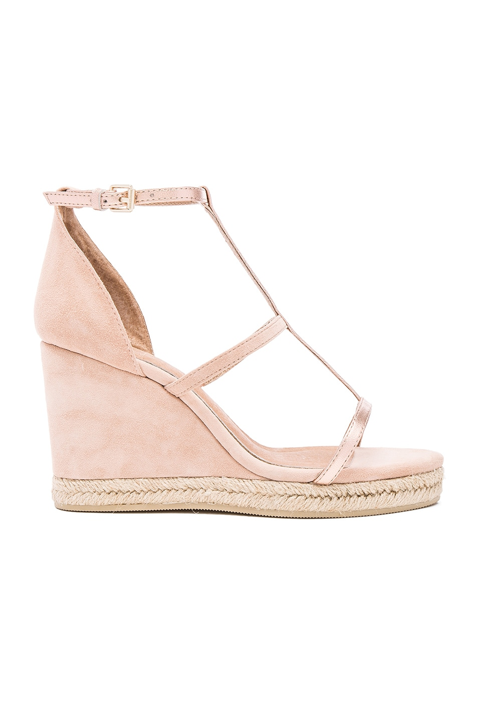 RAYE Dillon Wedge in Rose Gold & Blush