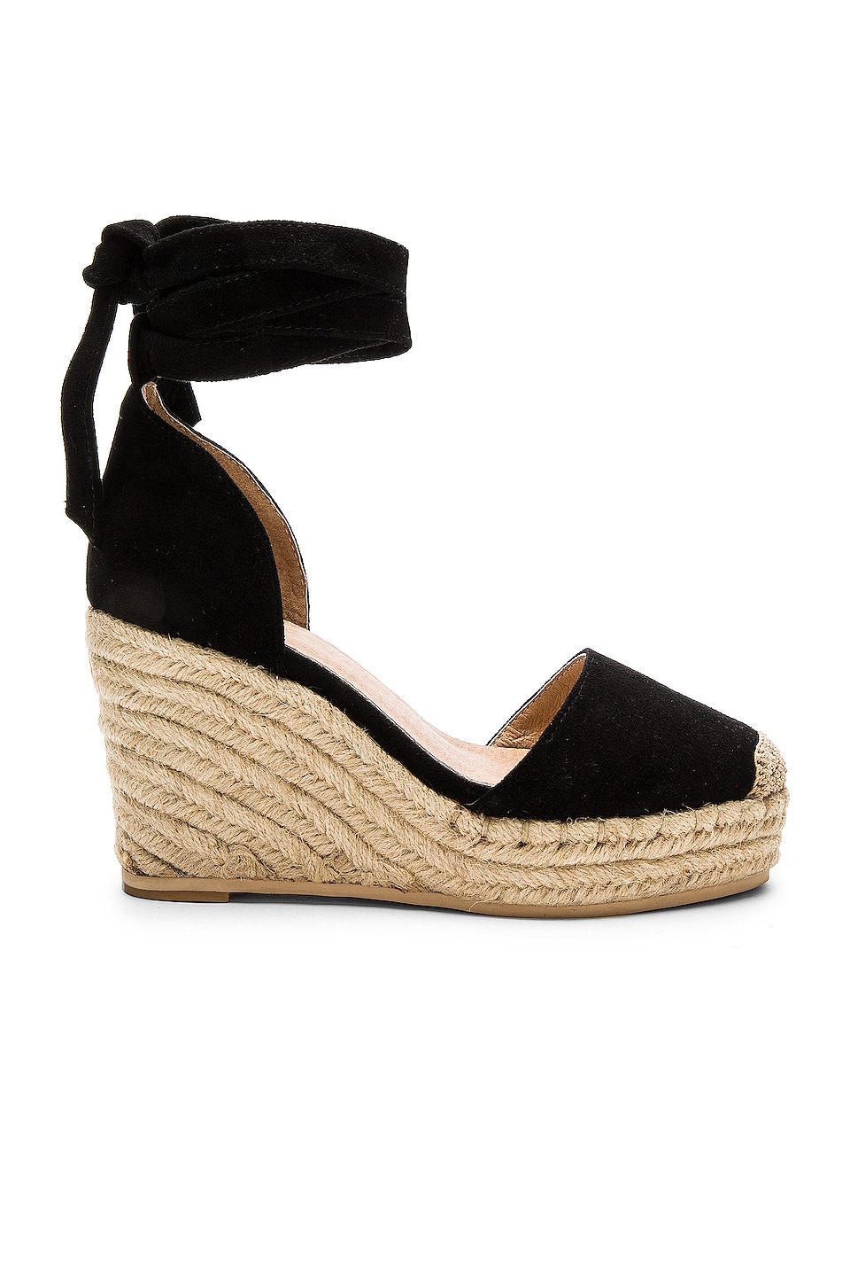 RAYE Dahlia Espadrille Wedge in Black