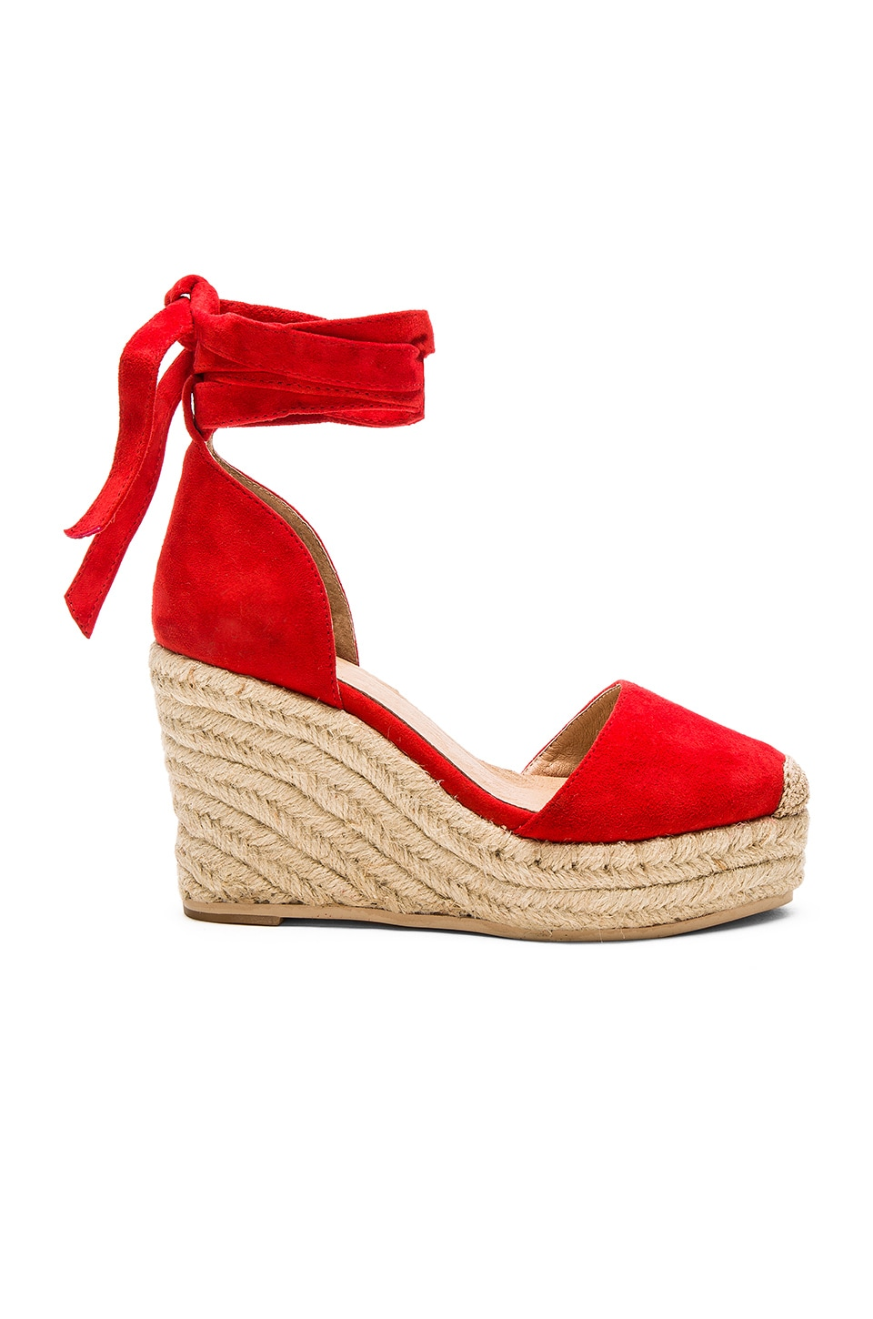 RAYE Dahlia Espadrille Wedge in Ruby