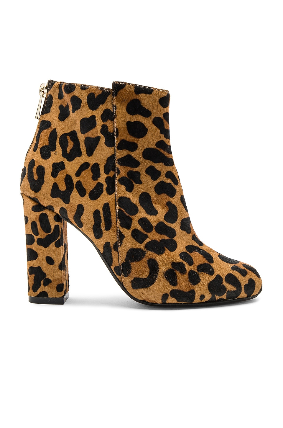 RAYE Ivy Pony Hair Bootie in Dark Tan Leopard