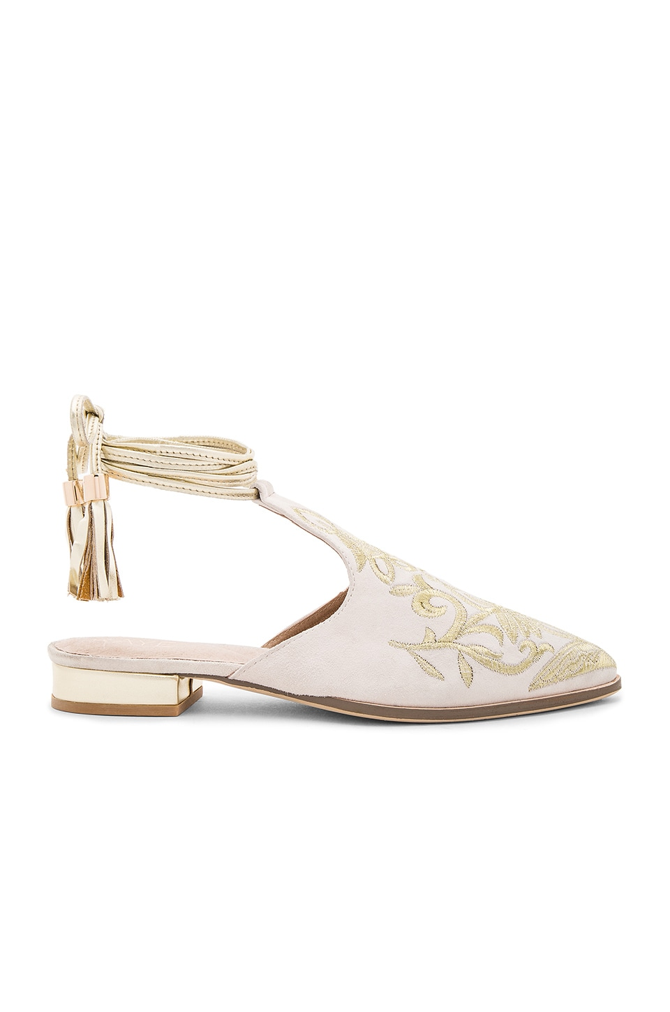 RAYE x REVOLVE Kate Embroidered Slide in Nude