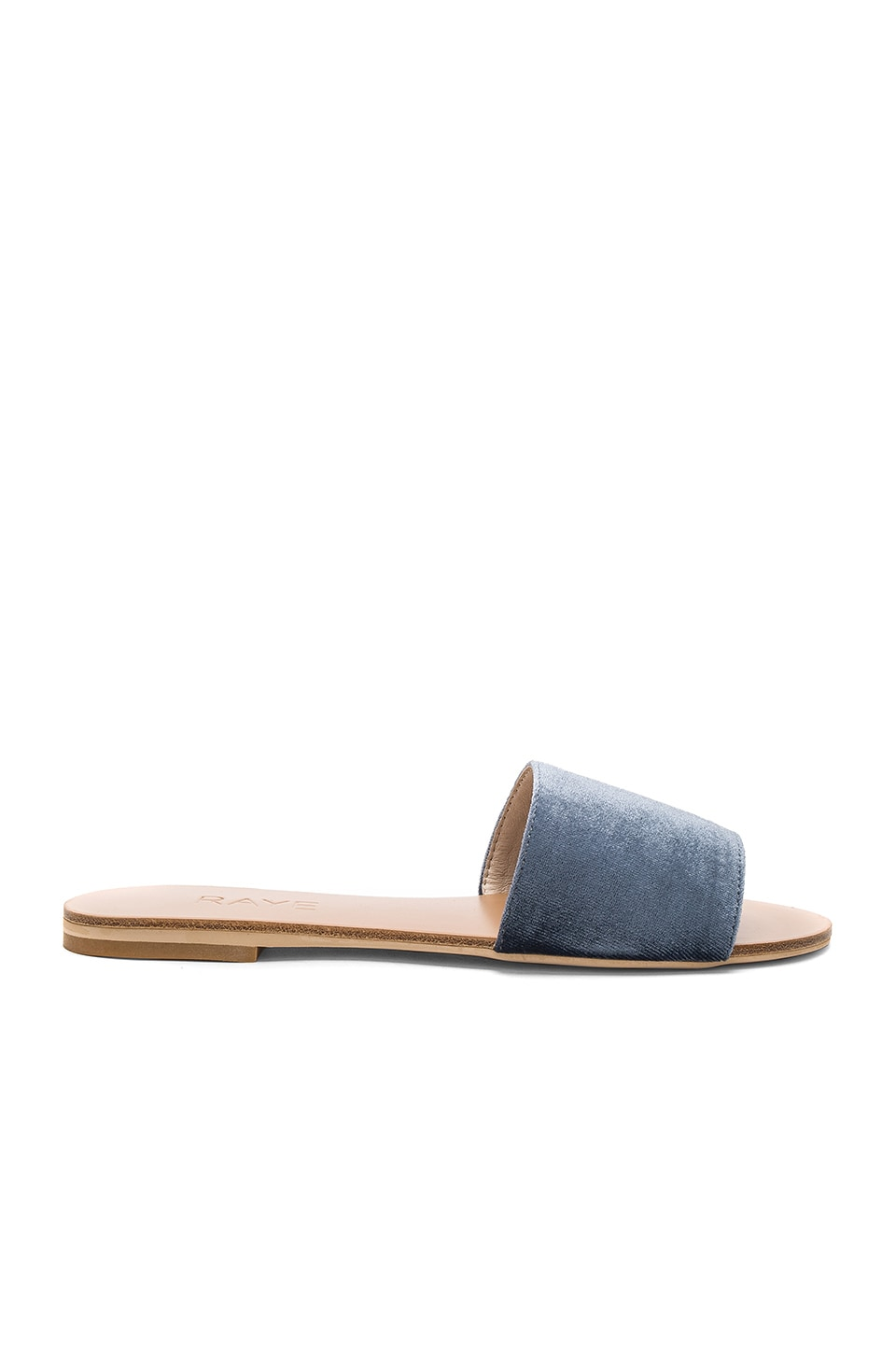 RAYE x REVOLVE Sari Slide in Dusty Blue Velvet