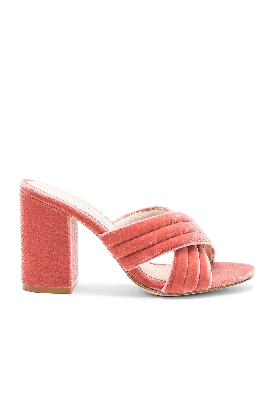RAYE Bella Mule in Blush Velvet