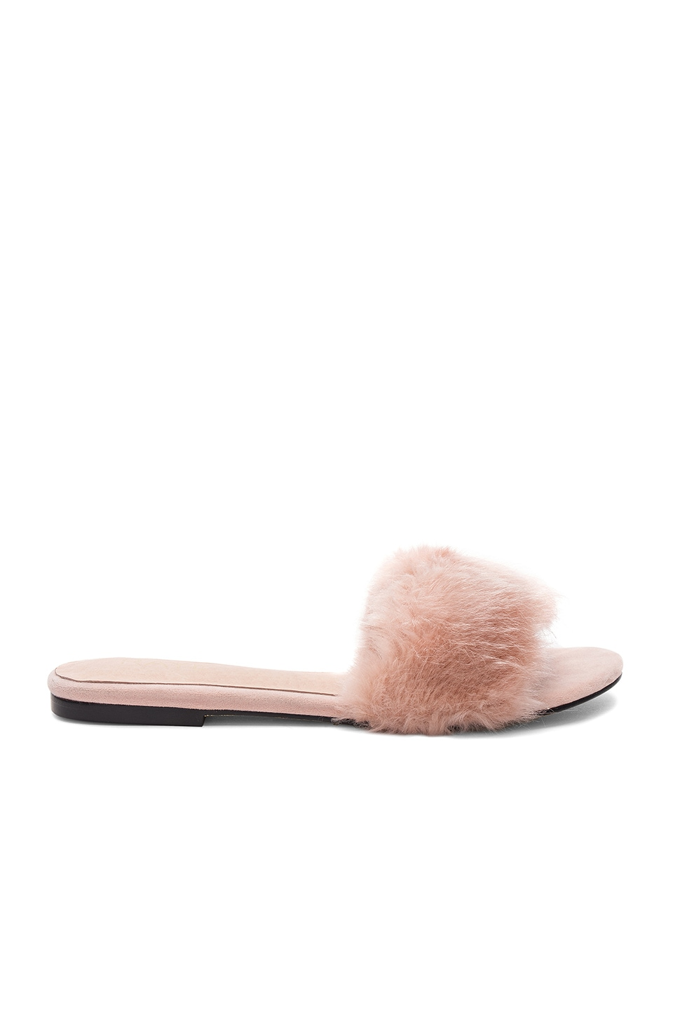 RAYE x REVOLVE Sawtelle Faux Fur Slide in Blush
