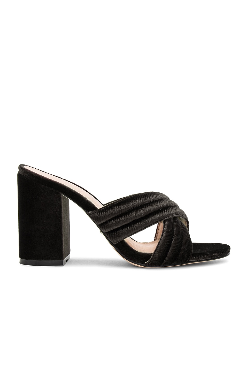 RAYE Bella Mule in Charcoal Velvet