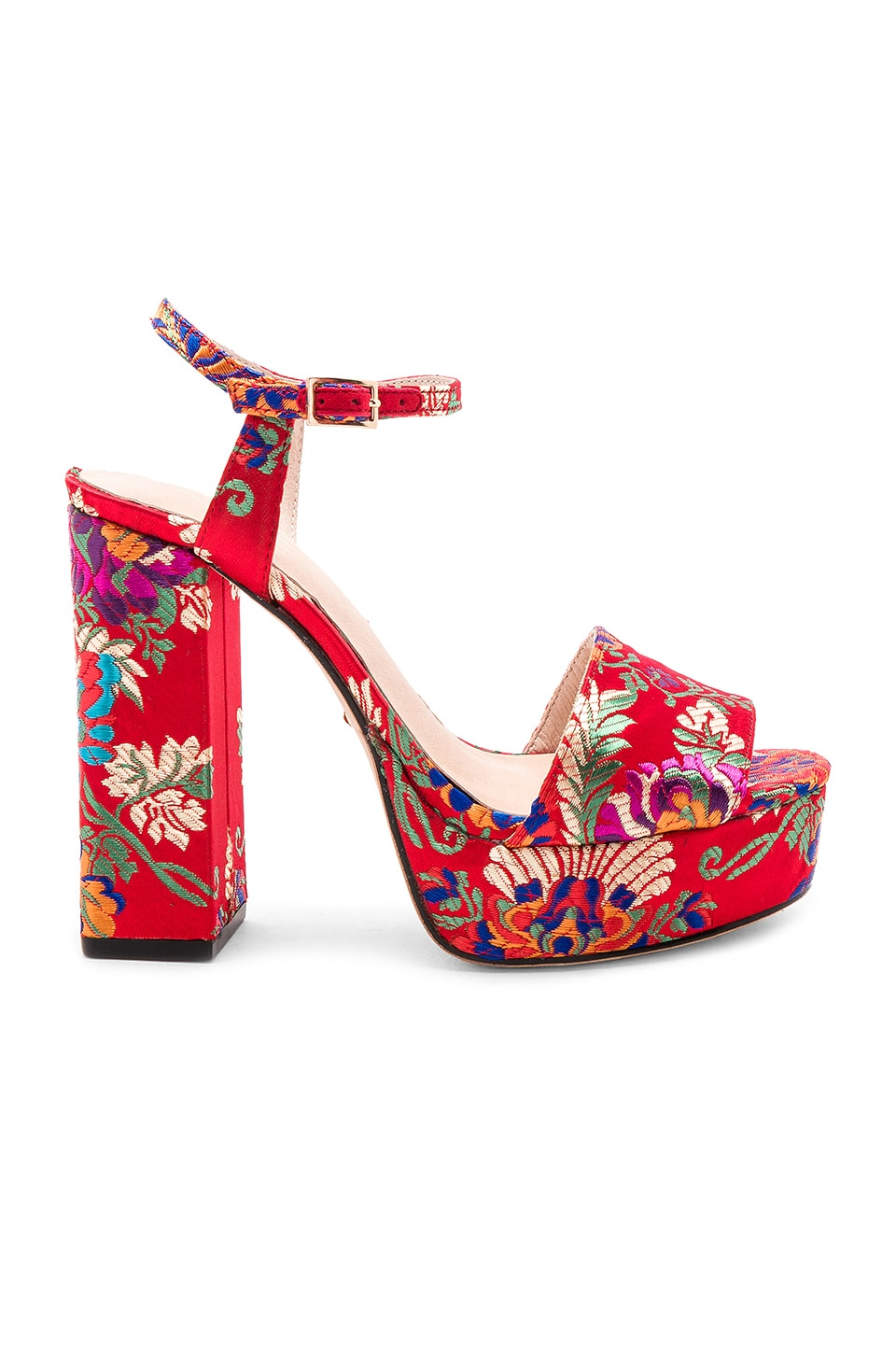 RAYE x REVOLVE Marino Platform in Red Brocade