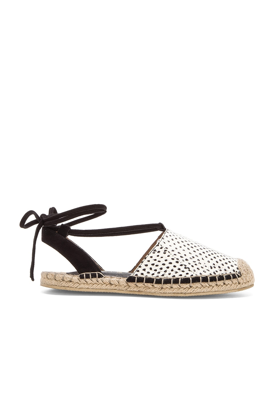 RAYE Dani Espadrille in Black & White Dot