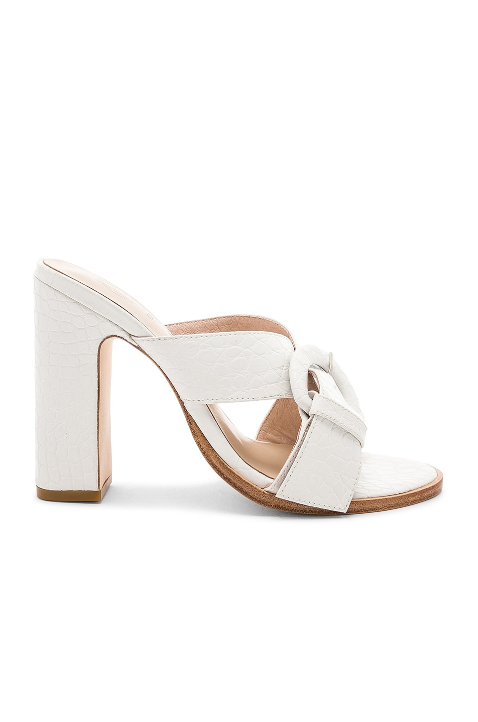 RAYE x House Of Harlow 1960 Hyland Mule in White