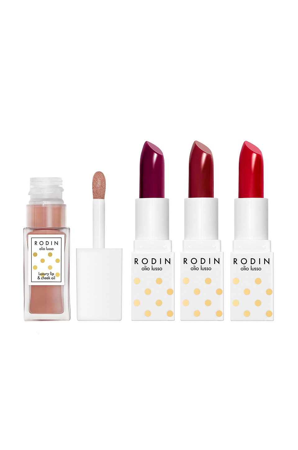 Rodin Luxury Lip Couture Set in Red Hedy, Loving Lucy, Billie on the Bike & Heavenly Hopp