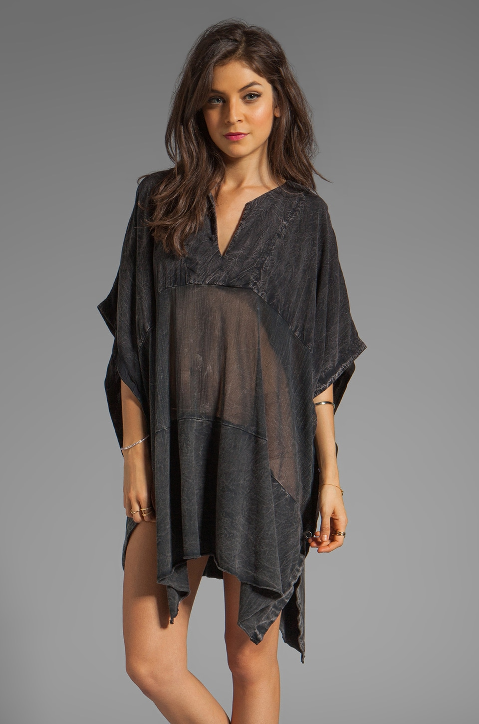 Rebel Yell June Kaftan in Black