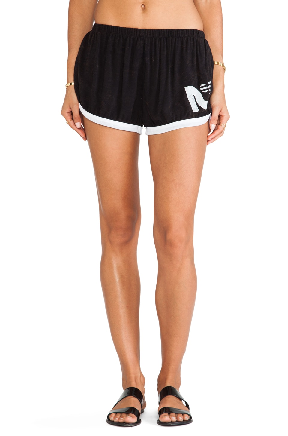 Rebel Yell RY Jogging Shorts in Black