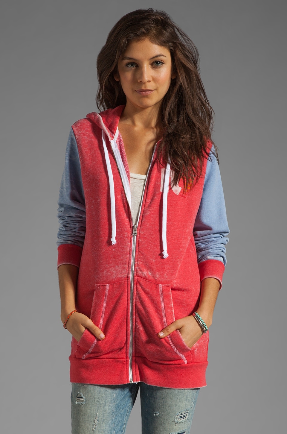 Rebel Yell Classic Zip Hoodie in Rebel Red
