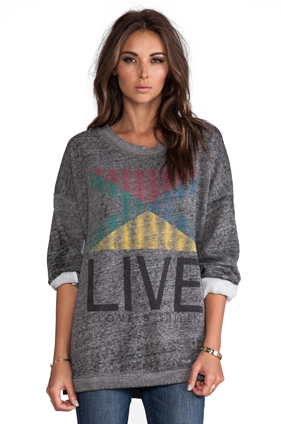 Rebel Yell Live Fleece Lounger in Heather Gray