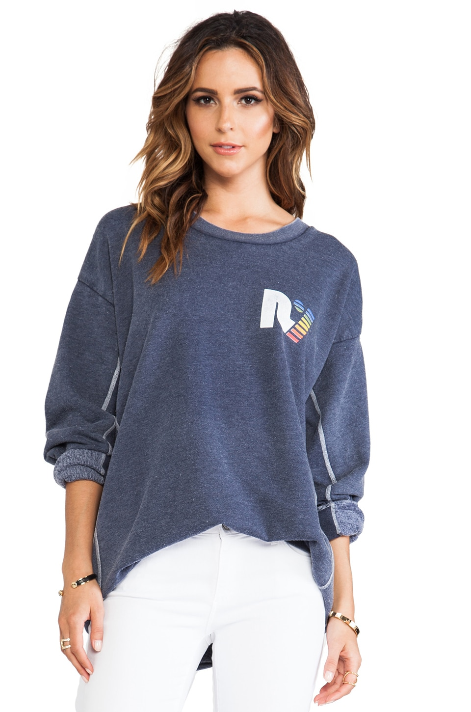 Rebel Yell x REVOLVE Strokes Warm Up Fleece in Blue Jean