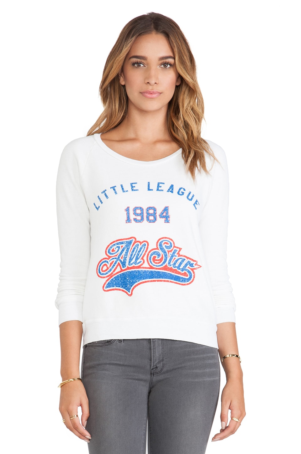 Rebel Yell Little League Lil Sis Lounger in White