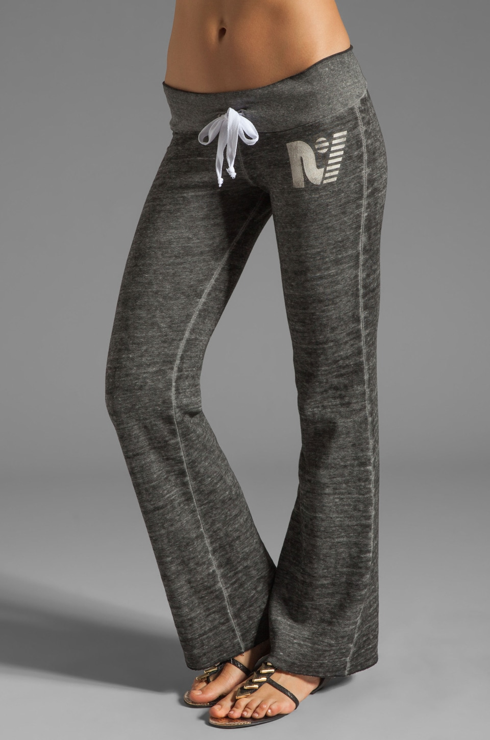 Rebel Yell Misfit Classics Boyfriend Sweats in Heather Grey