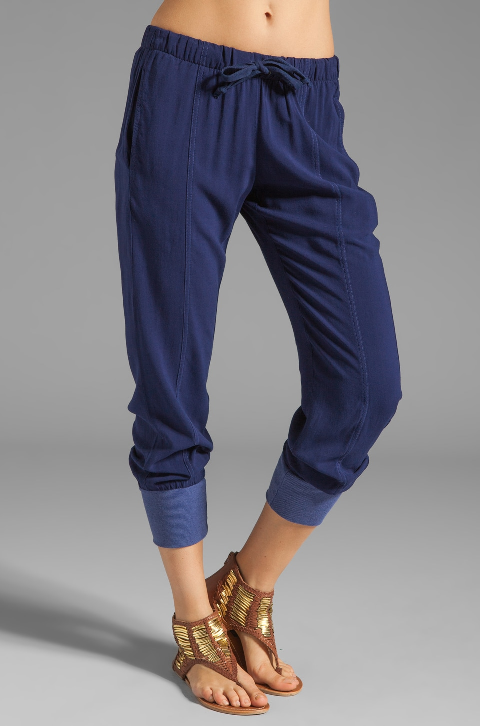 Rebel Yell Tomboy Trouser Sweats in Blue Jean