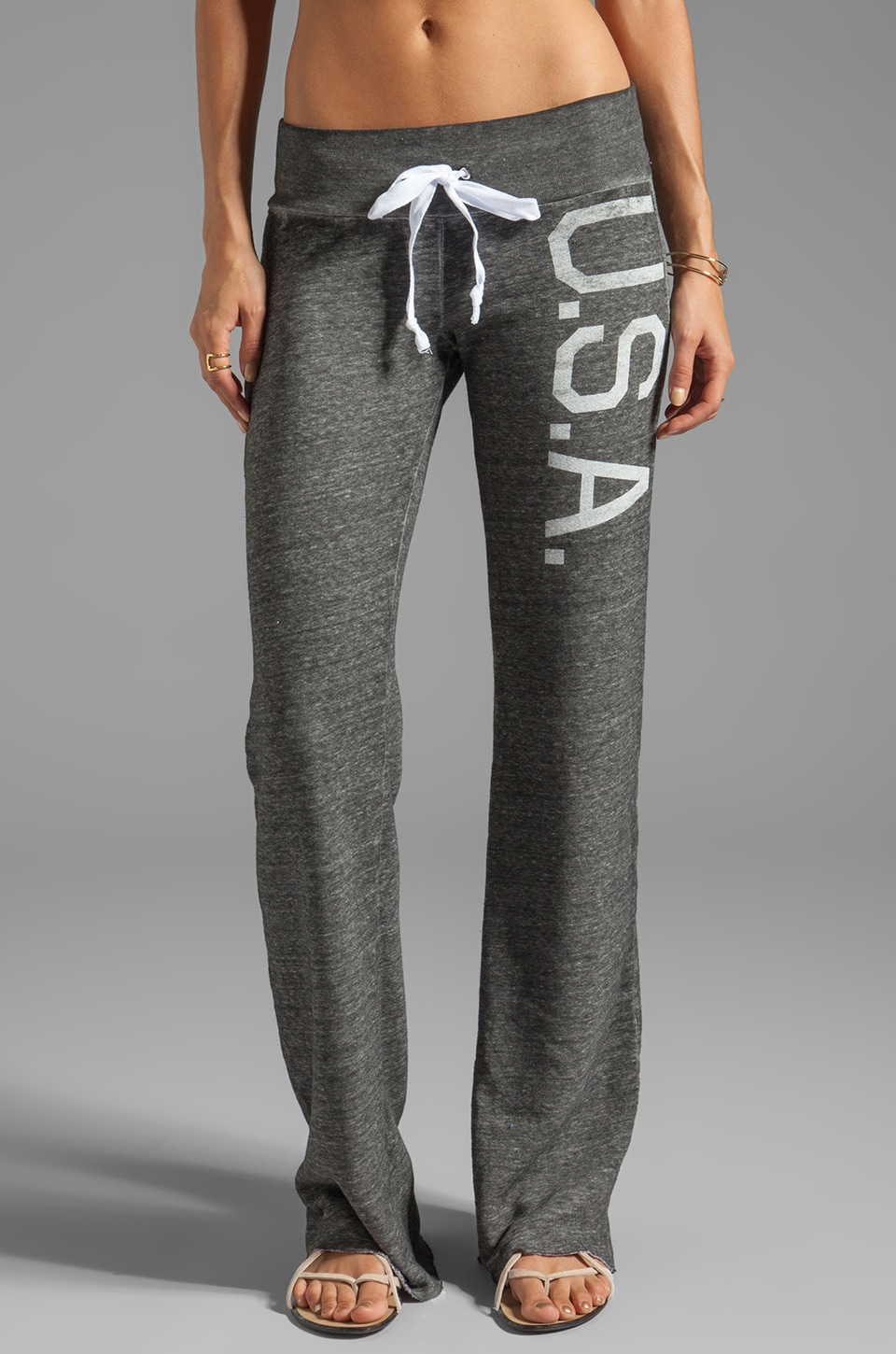 Rebel Yell U.S.A. Boyfriend Pants in Heather Gray