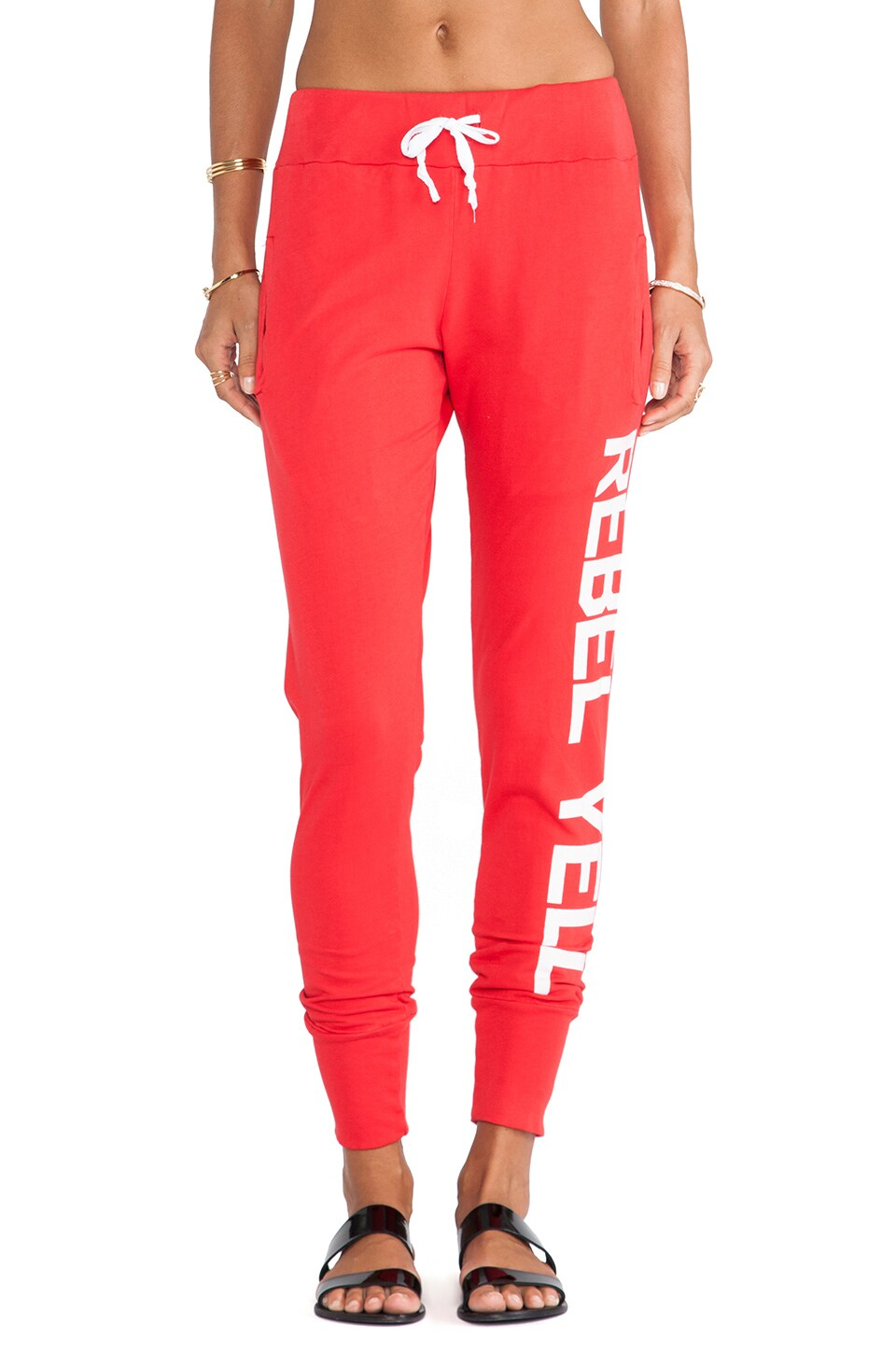 Rebel Yell RY Tomboy Sweats in Red