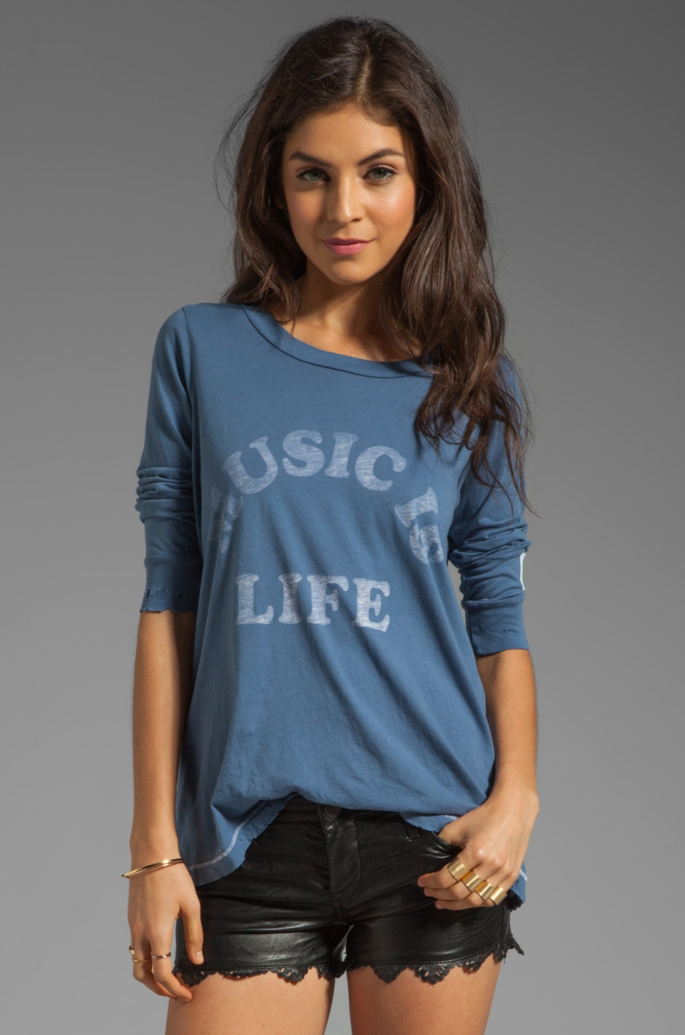 Rebel Yell Cross Country Crew in Blue Jean