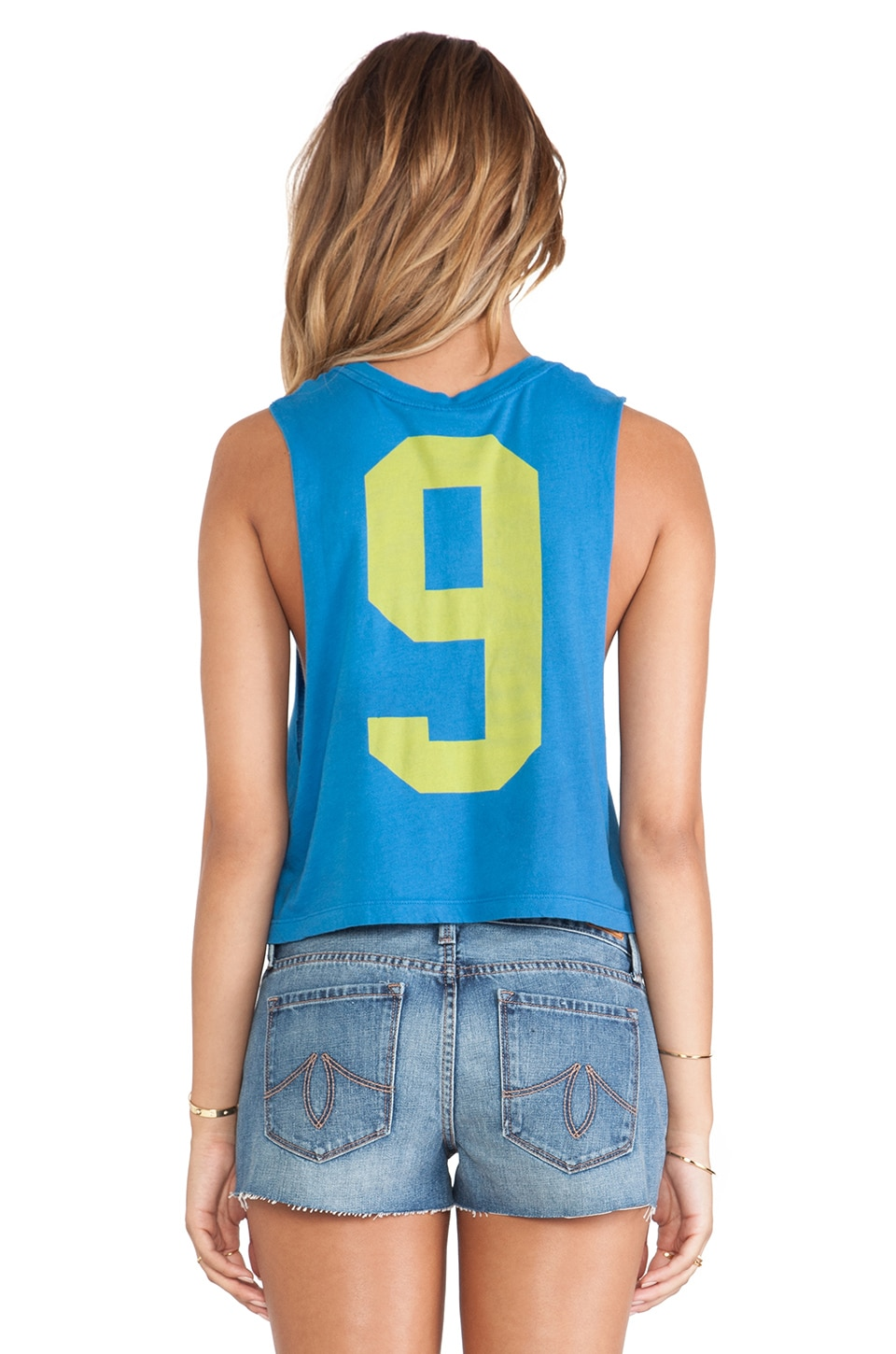 Rebel Yell Jogging Muscle Cut Off Tank in Royal