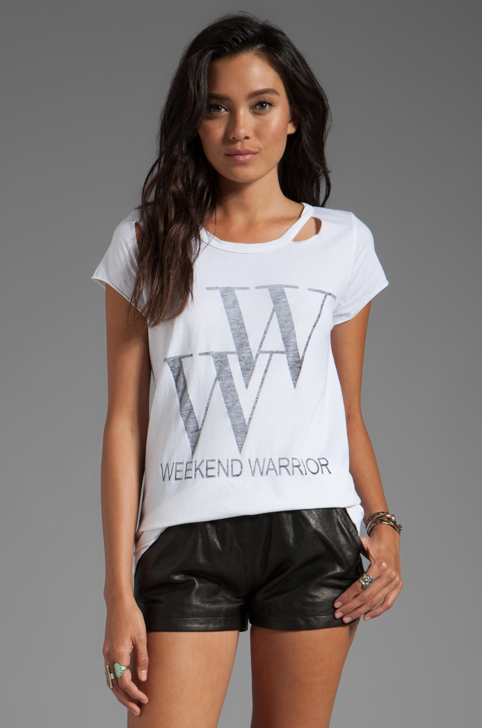 Rebel Yell Weekend Torn Crew in White