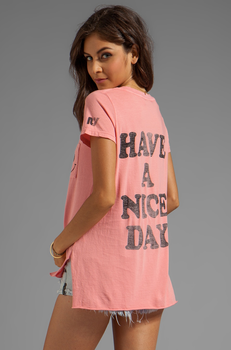 Rebel Yell Smile Pocket Tunic in Hot Pink