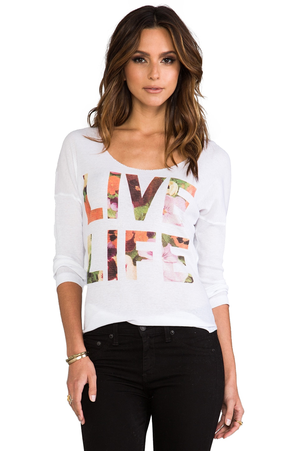 Rebel Yell Live Life Thermal in White