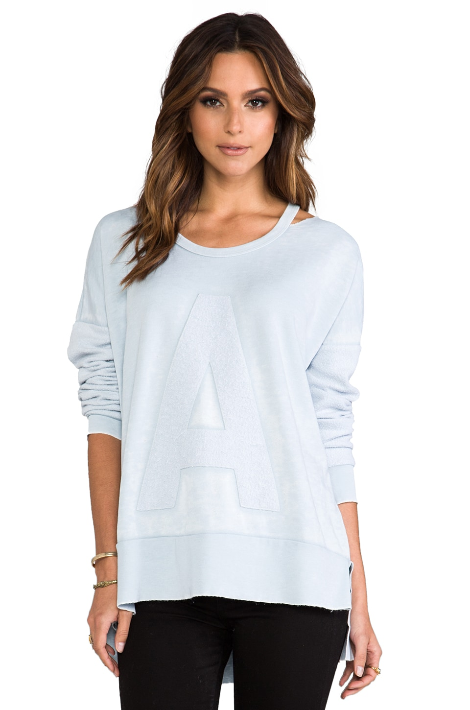 Rebel Yell Torn Warm Up Tunic in Oxford Blue
