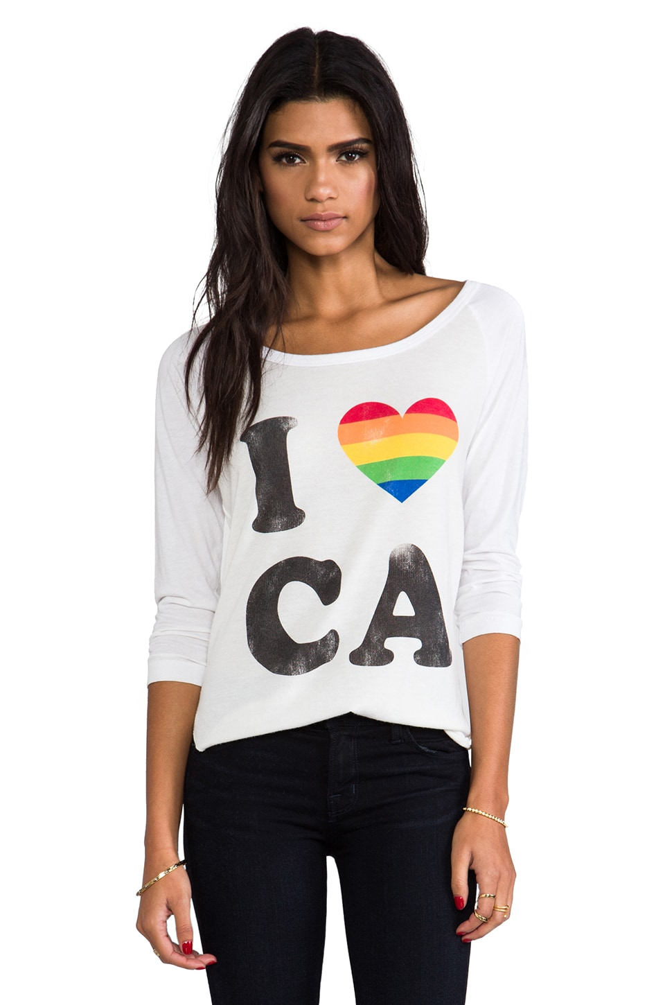 Rebel Yell I Love CA Baseball Tee in White
