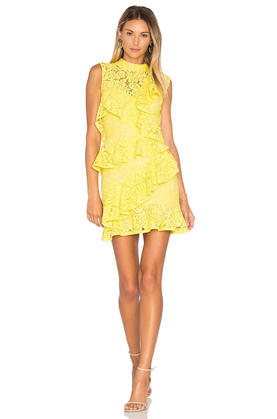 Rebecca Vallance Wilson Ra Ra Mini Dress in Zest