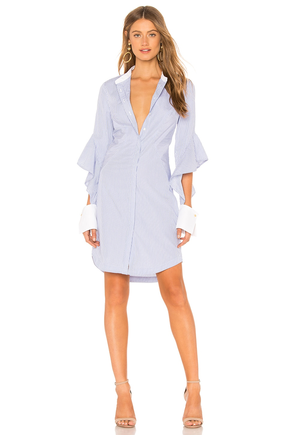 Rebecca Vallance CASSIA STRIPE SHIRT DRESS