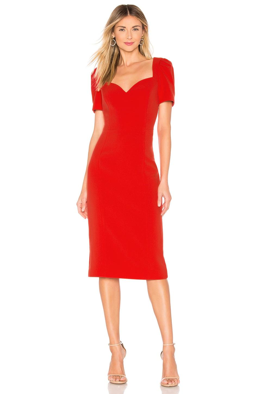 Rebecca Vallance L'Amour Dress in Red