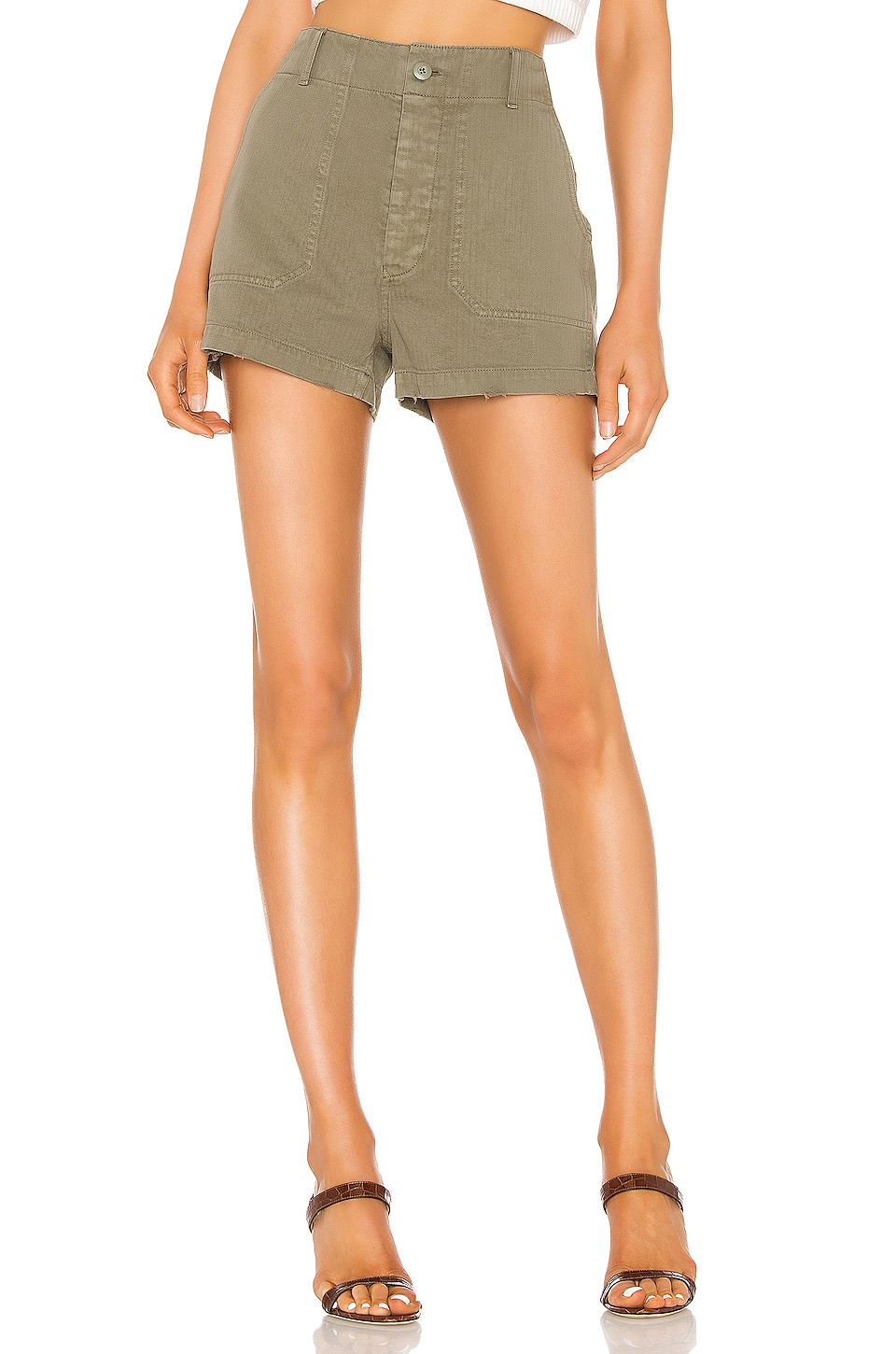 RE/DONE 50s Military Short in Olive