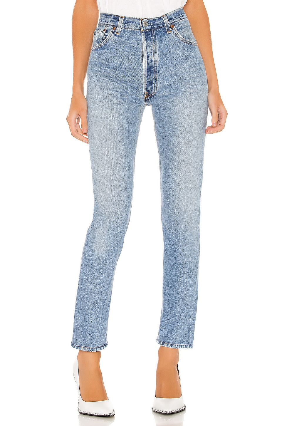 RE/DONE Levis High Rise in Indigo