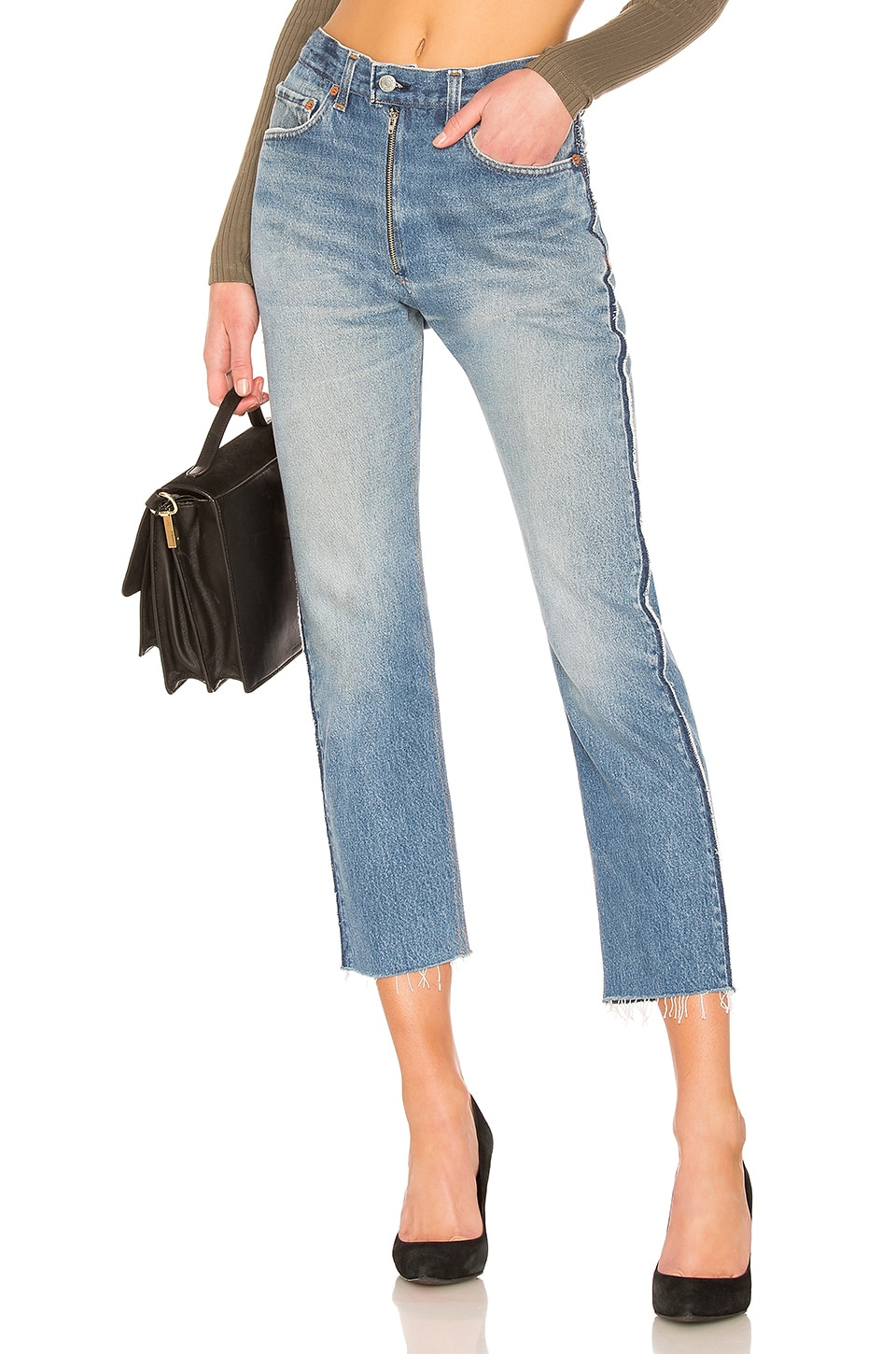 LEVI's High Rise Ankle Zip Front