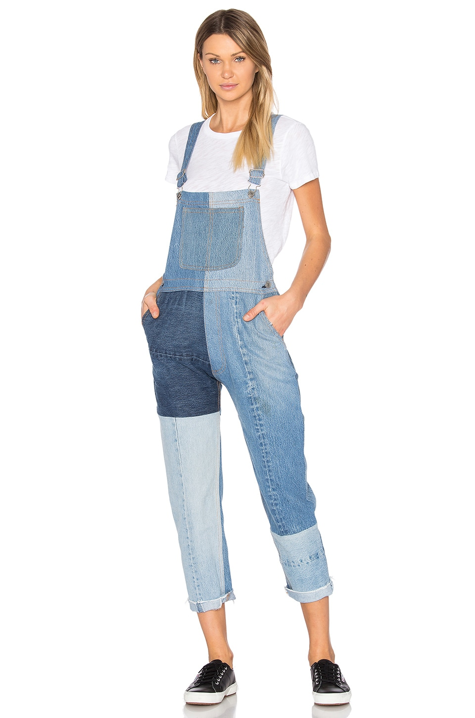 RE/DONE Seamed Overalls in Multi